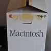 Apple Macintosh 128k shipping box from 1984