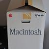 Apple Macintosh 128k shipping box from 1984