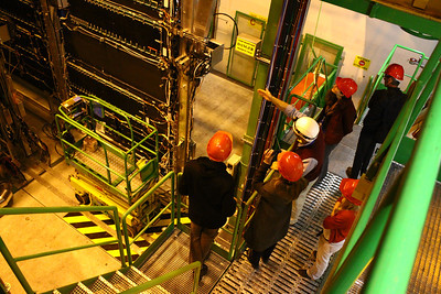 Being shown the components of the ALICE experiment