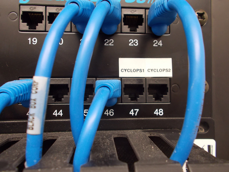 656067-1 Cables terminated patch panel D