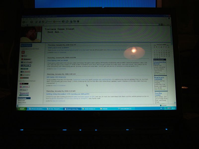 """my blog on a 17\"""" widescreen"""