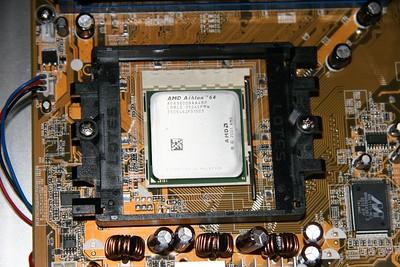 closeup of the processor (3800+ AMD 64 Venice)