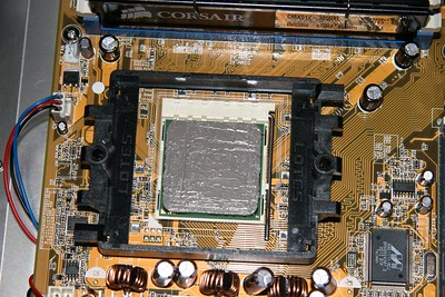 CPU with Artic Silver 5 thermal grease.