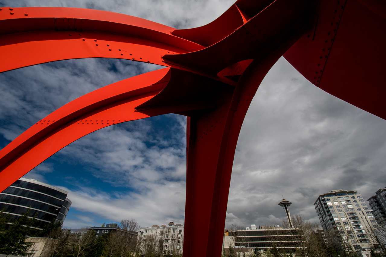 Calder Sky with Space Needle