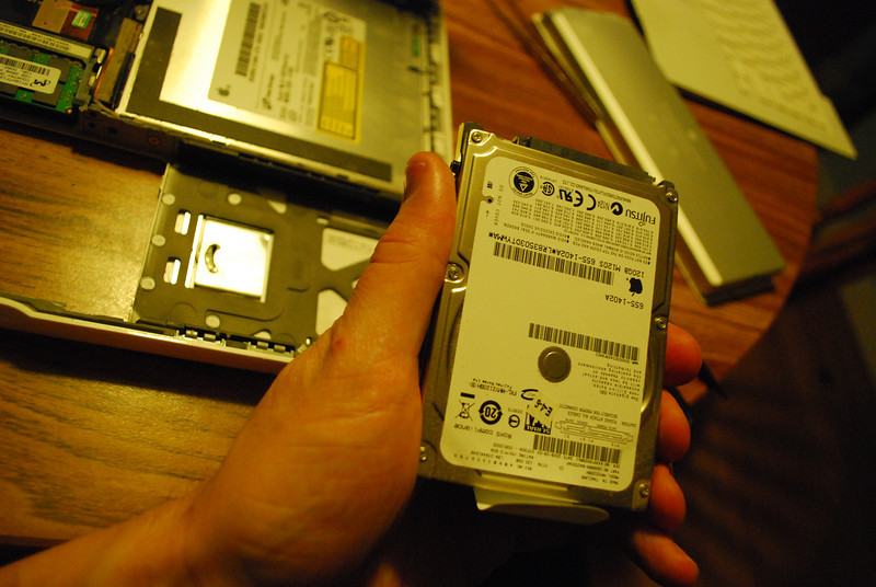 Hard drive removed.