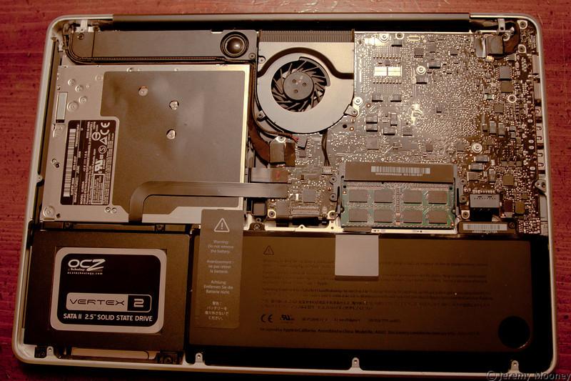 New OCZ Vertex 2 SSD installed.
