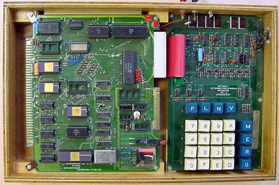 This is my Motorola MEK6800D2 development kit:<br /> <br /> <br /> The Specs: <br /> <br /> Introduced:	1976<br /> CPU:	        Motorola 6800<br /> display:	        6 x 7-segment LED<br /> CPU speed:     1 Mhz<br /> Mem:	        1024 bytes<br /> OS:                  Hexidecimal