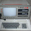"The Bondwell-14 (1984). <br /> The Bondwell-12 was a ""luggable"" portable computer with a built-in 9 inch (23 cm) monochrome CRT display, equipped with 128 kB of internal memory, CP/M 3.0 and two double-sided, double density, 5.25 inch floppy disk drives (360 kiB).<br /> I got it second hand, and I wanted it because it was running CP/M 3.0. But I didn't like the orange display, I prefer green. <br /> Well, I sold it to another guy."