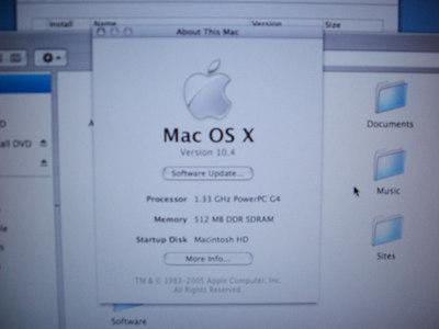 OSX Tiger install