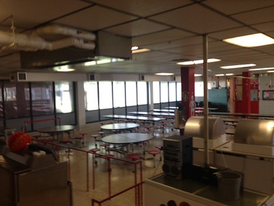 left side of the cafeteria