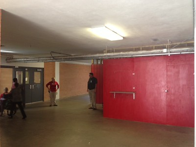 cover concession stand and doorway