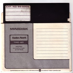 """TRS-80 5.25"""" Diskette and Sleeve Samples"""