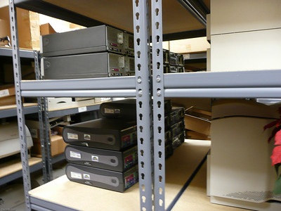 Center Storage Shelf, Printers and PCs