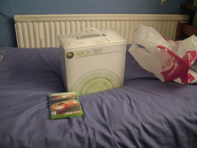 xbox360 box and ridge racer 6