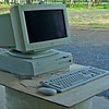 Sadly, after so many good years, this Apple Power PC has to go as it can no longer run the latest OS X software. Never needed repairs all the years I used it. Magic big CRT screen, as they all were then. Note mic on top