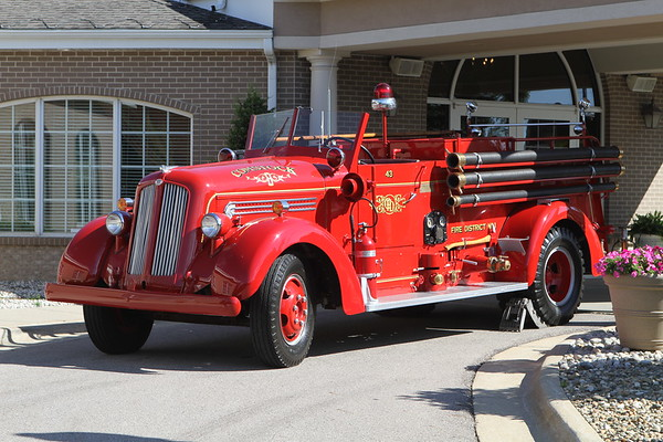 Comstock Michigan  Township Fire Department Funeral Service For Fire Chief Ed Switalski