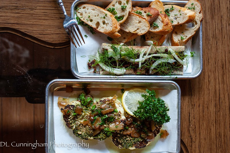 Bone marrow and cauliflower steaks