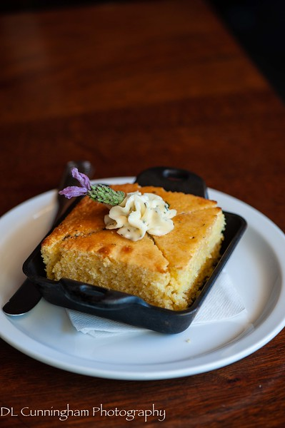 Kitchen 428 - Lavendar cornbread with local honey butter