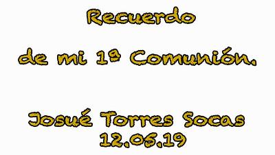 Comunión Josué 12/05/19