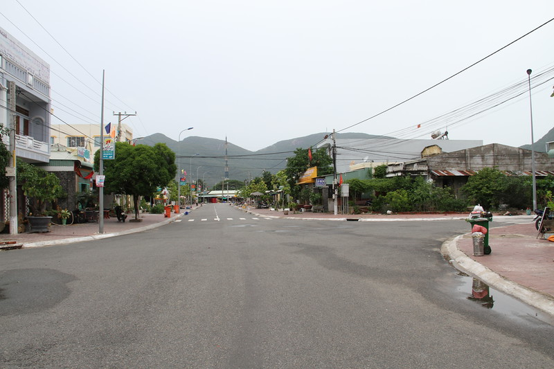 Main street in Con Dao town