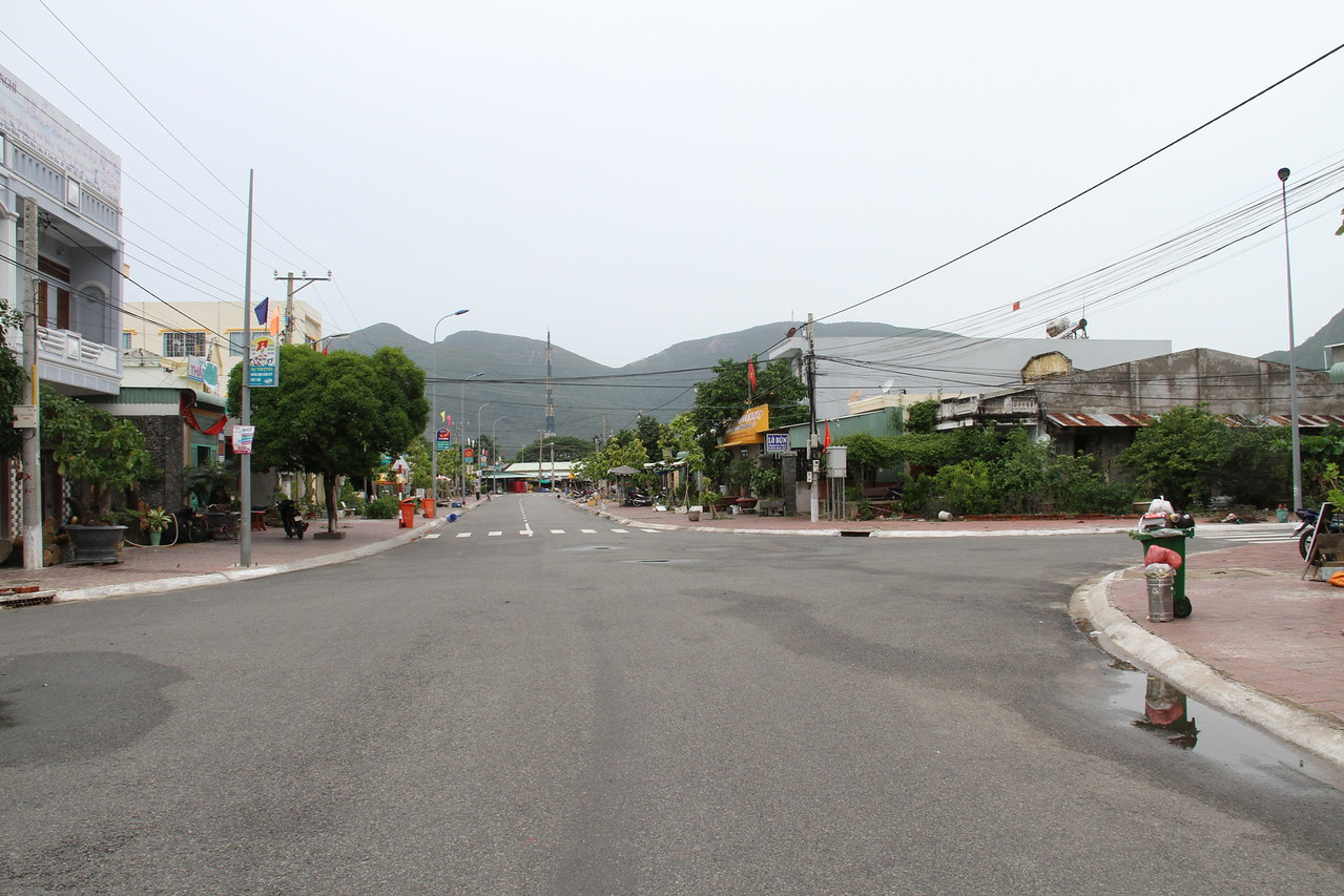 Main street in Con Dao town