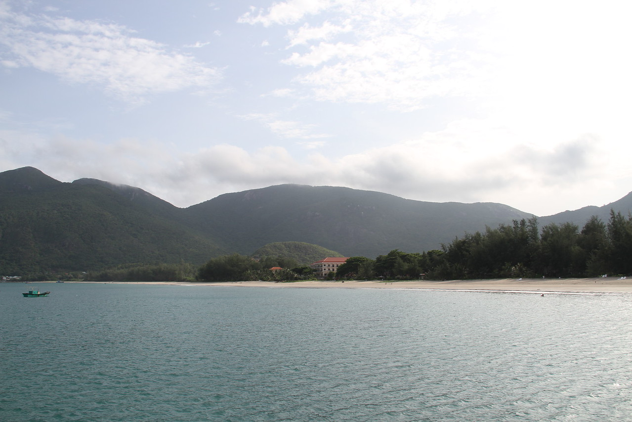 Looking back at the Con Dao resort from the new pier