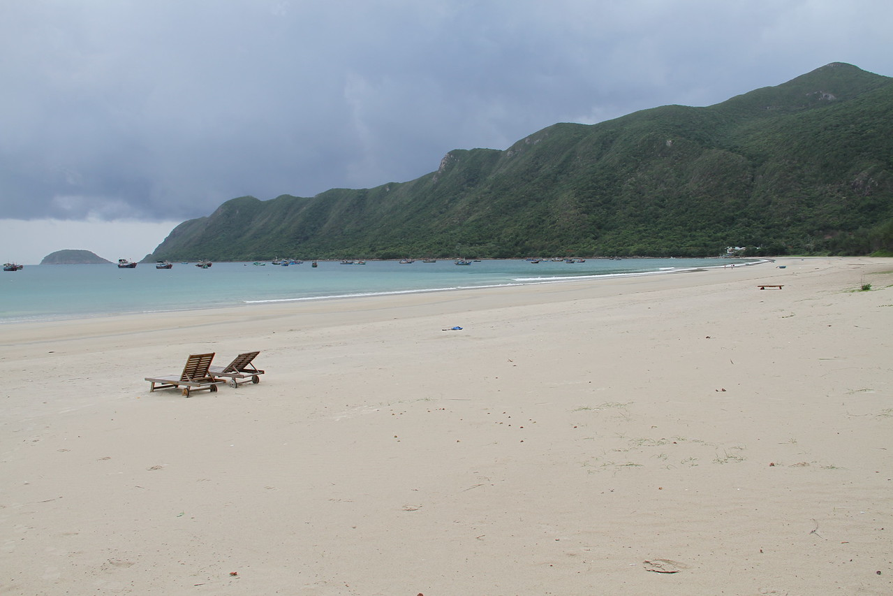 The beach in front of the Con Dao resort