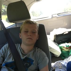 Asleep on the way home....