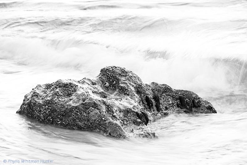 Wet Rocks 2 B&W