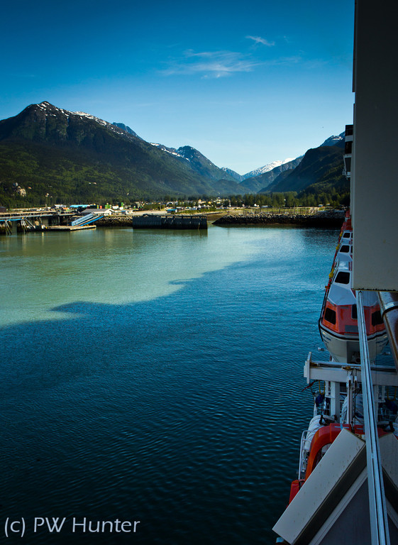 Port of Skagway from the largest structure in town.
