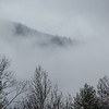 Mountain in Winter Fog