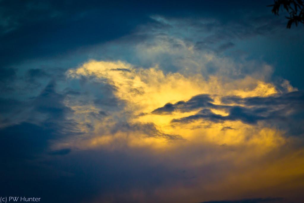 Sky in Orange and Blue