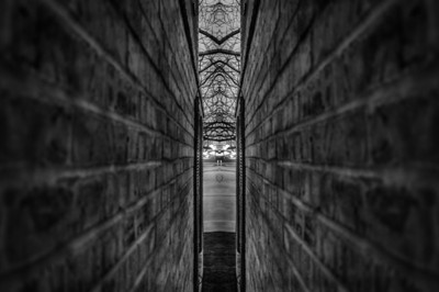Symmetric Alley in Black and White