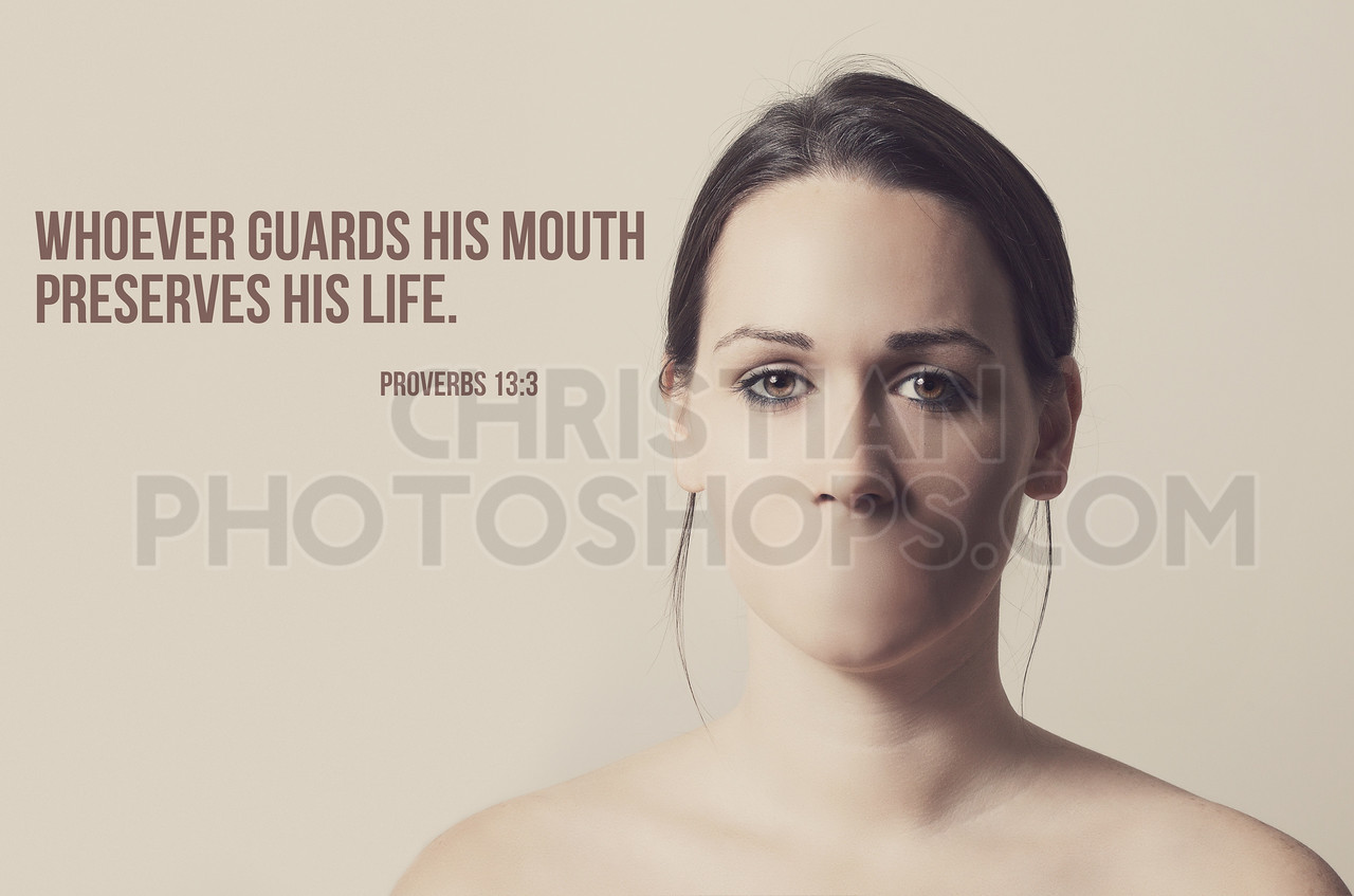 Woman without mouth