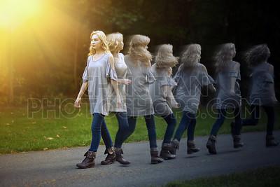 Turning around
