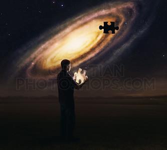 Galaxy puzzle piece