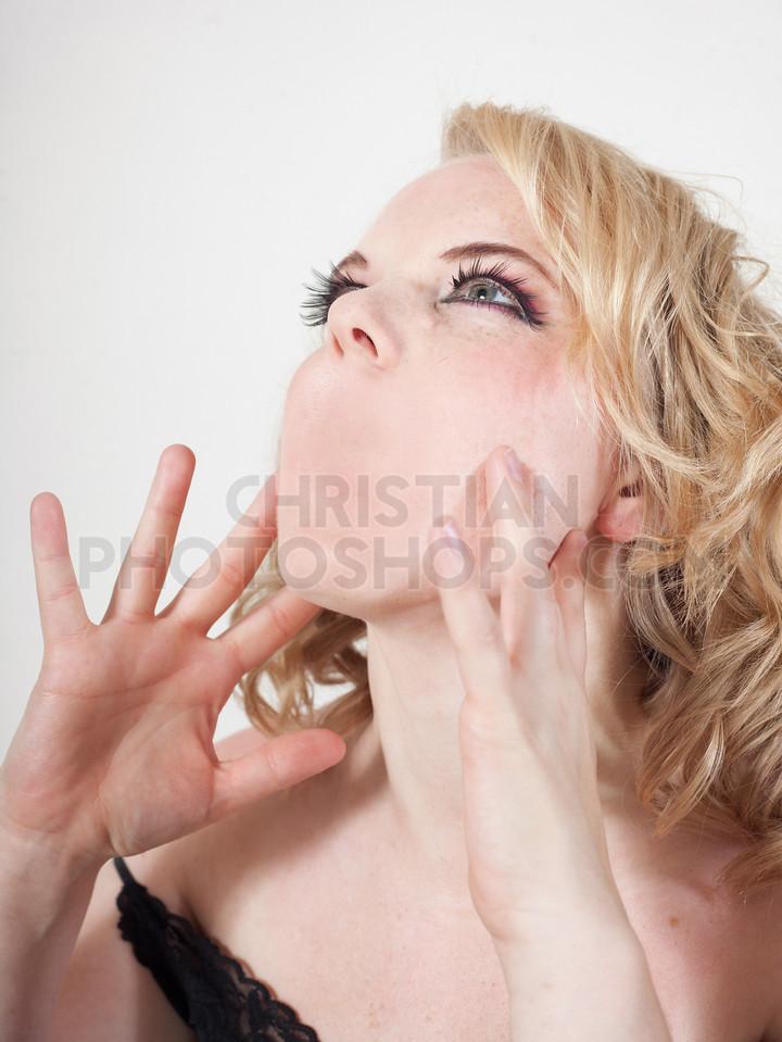A woman screams