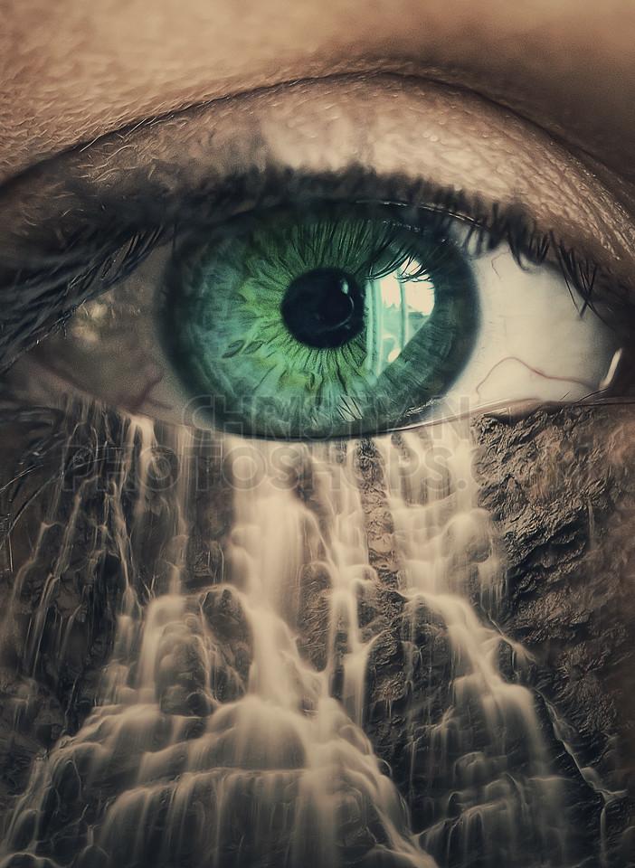 Eye waterfall