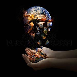 Falling apart world.
