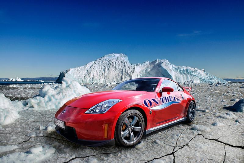 Car on thin ice