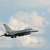 F-16 military jet fighter. EAA AirVenture, Oshkosh, Wisconsin, July 26, 2006. Photograph by Richard Winegarden.