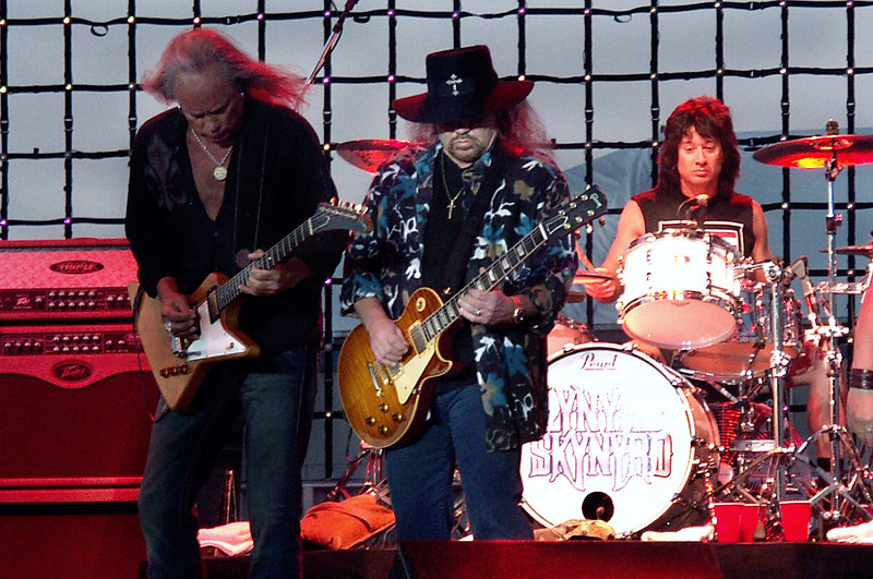 Ricky Medlocke, Gary Rossington and Michael Cartellone