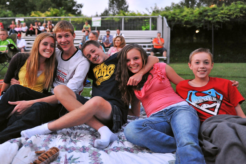 Alee Hansen, Joseph and Andrew Farnsworth, and Jade and Taylor Otteson at A Cappellastock at the Ogden Amphitheater on August 25, 2012. (ROBBY LLOYD/Special to the Standard-Examiner)