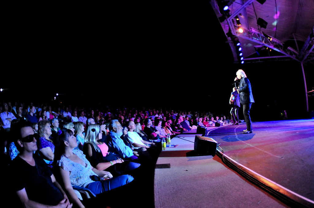 Air Supply performing to a packed house on September 3, 2012 at the Layton Amphitheater. (ROBBY LLOYD/ Special to the Standard-Examiner)
