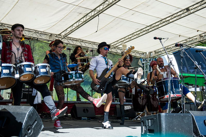 Calliope Musicals and March Fourth brought unique and energetic live performances to a full crowd at the Blues, Brews, and BBQ Festival at Snowbasin Resort in Huntsville on June 19, 2016.
