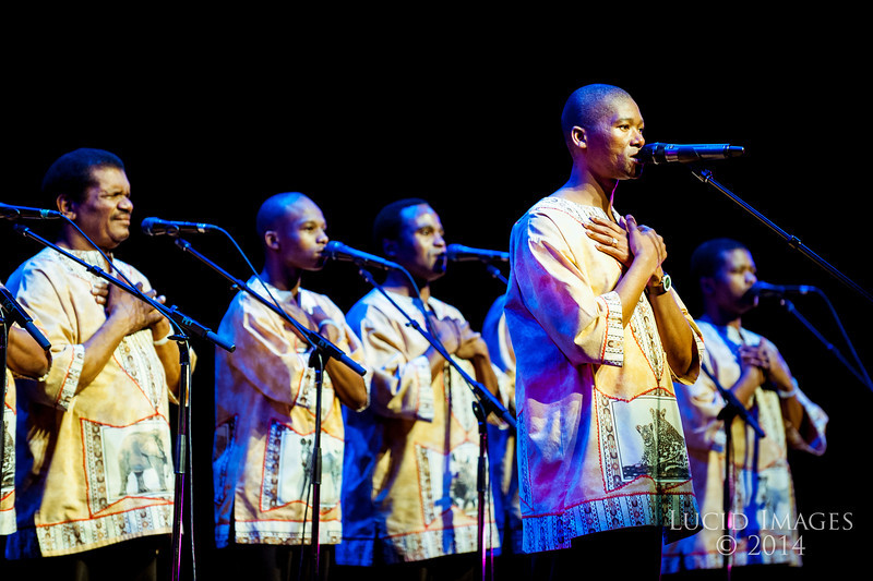 Ladysmith Black Mambazo performs at Peery's Egyptian Theater in Ogden on March 8, 2014. The group garnered international attention after performing several songs with Paul Simon on his multi-platinum 1986 album, Graceland. (ROBBY LLOYD/ Special to the Standard-Examiner)