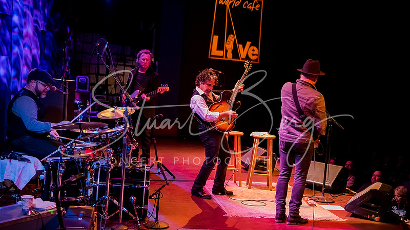 John Oates  <br /> February 6, 2018  <br /> World Cafe Live   <br /> Philadelphia, PA   <br />  ©Stuart M Berg  <br /> <br /> John Oates and the Good Road Band  <br /> <br /> John Oates - Guitar, Lead Vocals  <br /> Guthrie Trapp - Lead Guitar  <br /> Steve Mackey - Bass, Vocals  <br /> Josh Day - Drums, Vocals