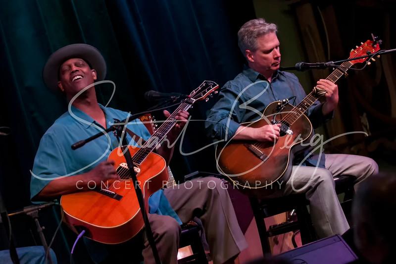 Eric Bibb & Guy Davis  <br /> Towne Crier Cafe, Beacon, NY  <br /> 2-19-2015<br /> Photo by Stuart Berg