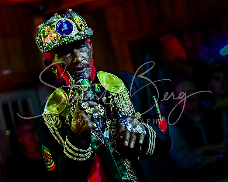 Lee Scratch Perry & Subatomic Sound System  <br /> October 26, 2017    <br /> Daryl's House Club  <br /> Pawling, NY  <br />  ©Stuart M Berg  <br /> <br /> Lee Scratch Perry & Subatomic Sound System  <br /> Lee Scratch Perry - Vocals  <br /> Emch - dub, mixing, melodica  <br /> Larry McDonald - Percussion  <br /> Troy Simms - Saxaphone  <br /> Omar Little - Trumpet