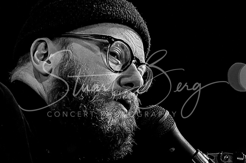 """Mike Doughty   <br /> March 28, 2018   <br /> Daryl's House Club  <br /> Pawling, NY  <br />  ©Stuart M Berg   <br /> <br /> Mile Doughty - Guitar, Pocket Piano, Vocals   <br /> Andrew """"Scrap"""" Livingston - Cello"""